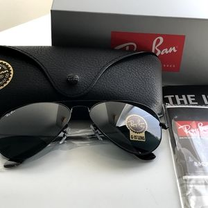 BLACK RAYBAN AVIATOR 100% AUTHENTIC